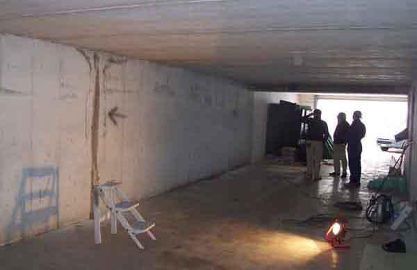 infiltrazioni d'acqua in strutture interrate