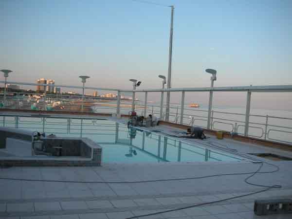 PETRA impermeabilizzazione piscina con manto sintetico