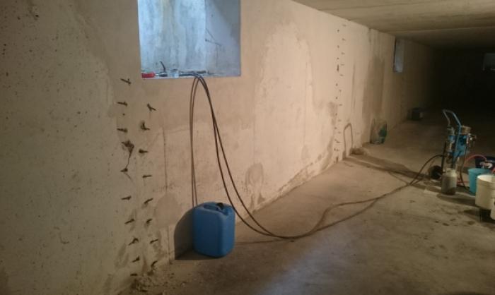 sigillatura infiltrazioni d'acqua in strutture interrate TREVISO
