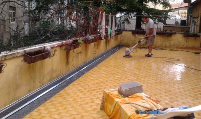 PETRA impermeabilizzazione terrazza con YDRO-TERRAZZA TRIESTE