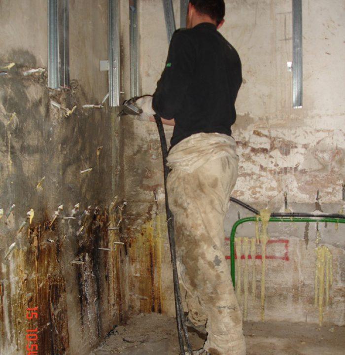 infiltrazioni d'acqua da riprese di getto Udine