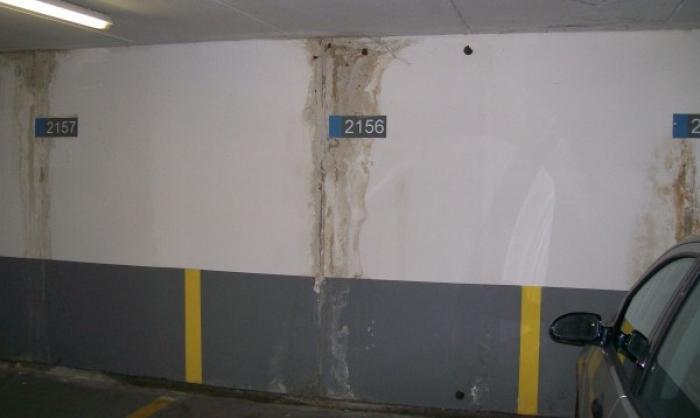 sigillatura infiltrazioni d'acqua da riprese di getto parcheggio interrato