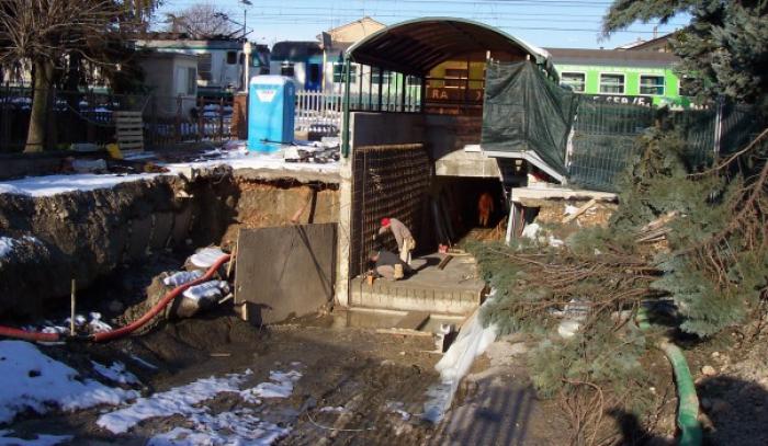 sigillatura infiltrazioni d'acqua da riprese di getto sottopasso
