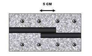 applicazione di GB202 giunto bentonitico idroespansivo per la sigillatura delle riprese di getto