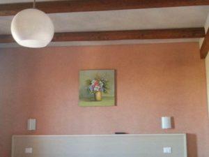SUBEREX sughero spruzzato applicazione su muri interni