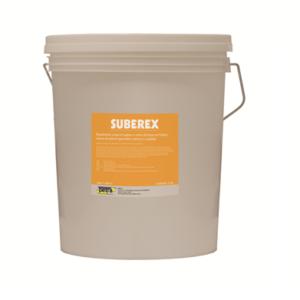 SUBEREX rivestimento a base di sughero e resina all'acqua per finiture esterne ed interni applicabile a spruzzo o spatola