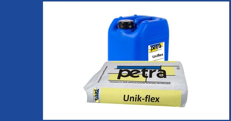 UNIK-FLEX rasante cementizio bicomponente elastoplatico impermeabile RS