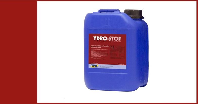 YDRO-STOP barriera all'umidità di risalita capillare liquida a base acqua per qualsiasi tipo di muratura